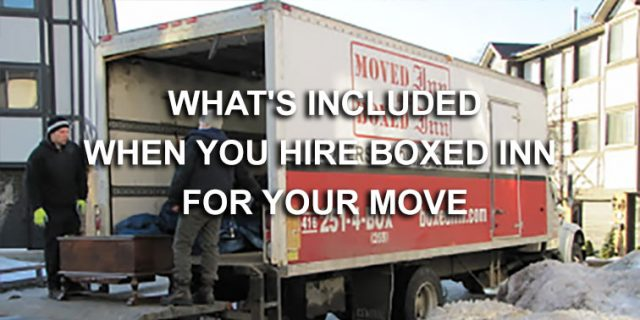 Why Choose Boxed Inn For Your Move